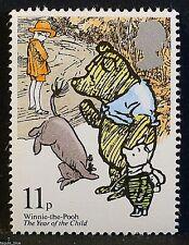 Winnie-the-Pooh, Piglet, Eeyore + Christopher Robin on 1979 Stamp - U/M