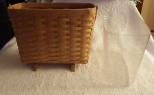1994 Longaberger Basket Light Wood W/Plastic Liner Handwoven Magazine #12122