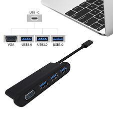 USB-C 3.1 HUB Type C to 3 USB 3.0VGA Adapter for Macbook pro Dongle Thunderbolt