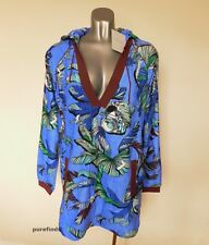 EMILIO PUCCI DRESS IT 42, UK 10 US 8 JUNGLE PRINT, HOODED COVER UP TUNIC, BNWT