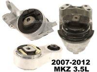 9R3151L 3pc Motor Mounts fit 3.5L 2007-2012  Lincoln MKZ Engine Trans Mounts