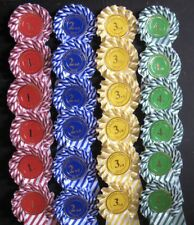 Candy stripe Rosettes 6 x 1st to 4th 1 tier SHOW NAME INCLUDED,