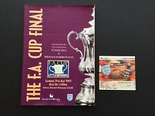 FA CUP FINAL PROGRAM AND MATCH TICKET CHELSEA V MIDDLESBROUGH 1997