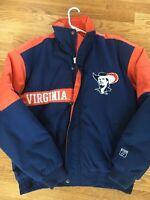 Vintage Virginia Cavaliers Winter Coat Puffer Jacket Logo 7 UVA Size M