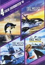 4 Film Favorites: Free Willy 1 - 4 [New DVD] Boxed Set