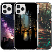 Silicone Cover Case Cute City At Night Rain Bridge Nature Trees Universe Stars