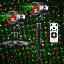 Christmas Outdoor LED Moving Snowflake Laser Light Projector Lamp Party B