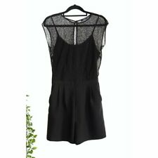 French Connection Black Lace Short Playsuit Size 6