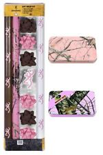 Browning Gift Wrap Kit Pink Camo Wrapping Paper ~ New ~ Free Shipping
