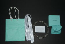 TIFFANY & CO AUTH. RETURN TO  SILVER STERLING OVAL TAG CHOCKER NECKLACE *EUC*