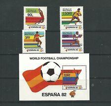 Maldives 1982 World Cup SG973-76 + MS977 Cat.£12   mnh