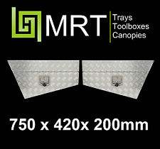 ALUMINIUM PAIR OF 4X4 TOOLBOXES UNDER BODY 750mm TOOL BOX UNDER TRAY 4WD MRT2S