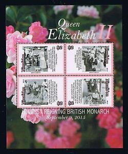 Niuafo'ou 2015 Queen Elizabeth II Stamp Issue Souvenir Sheet