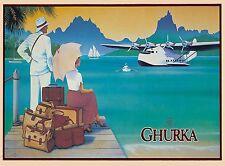 Ghurka Bora Bora French Polynesia Tahiti South Sea Travel Advertisement Poster