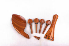 1set Violin Accessories 4/4 Rosewood Violin Tailpiece Peg Chin rest Violin parts