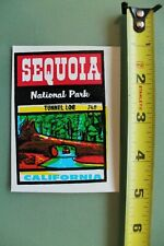 New listing Sequoia Tunnel Log California V12 Vintage 1960's Water Transfer Window Decal