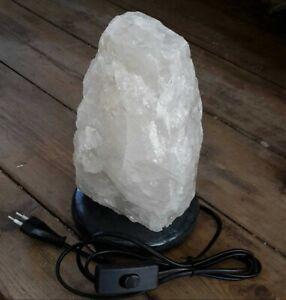 Edelstein Lampe Bergkristall Felsen Stein Tischleuchte Nachttischlampe ca. 3kg