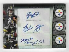 Le'Veon Bell 2013 BOWMAN STERLING TRIPLE AUTOGRAPH CARD /10 SIGNED Steelers AUTO