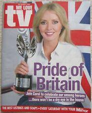 Carol Vorderman - Pride of Britain  - We Love TV – 29 October 2016