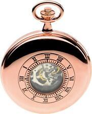 Jean Pierre Switzerland Rose gold Plated Half Double Hunter Pocket Watch G255RPM