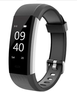 New Black Aneken Heart Rate Smart Fitness Tracker Watch