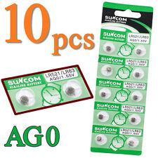 10pcs AG0 LR521 379A LR63 1.55V Button Coin Cells Watch Battery Batteries