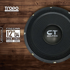 "CT Sounds Tropo 12"" Free Air D4 450W RMS Infinite Baffle Dual 4Ohm Car Subwoofer"