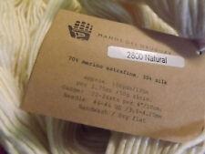 Manos Del Uruguay Silk / Extrafine Merino Hand Dyed Yarn 50g #2800 Natural Cream