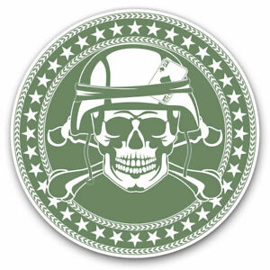 2 x Vinyl Stickers 30cm - Army Soldier Skull Military Forces Cool Gift #5415