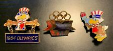 Set 1984 Los Angeles Olympics Organizing Committee Pins Sam the Eagle / Stars