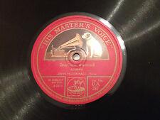 "JOHN McCORMACK ""Dear Little Shamrock""/""The Low-Back'd Car"" 78rpm  1924/25  EXC+"