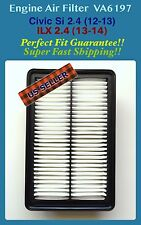 Engine Air Filter For Civic Si 2.4 / ILX 2.4  12-15 VA6197 Fast Ship US Seller!