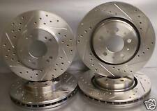 98-99 Acura CL 3.0 Drilled Slotted Brake Rotors Rear