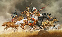 """Thunder Across the Plains"" Frank McCarthy Western Indian Giclee Canvas Print"