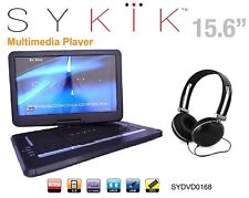 15'' Portable CD/DVD Player, HD Widescreen Display Built-in Rechargeabl