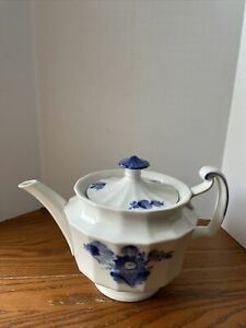 Royal Copenhagen Blue Flower Teapot 10/8503 Complete With Lid Perfect
