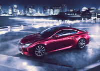 """BEAUTIFUL 2014 LEXUS RC COUPE NEW A4 CANVAS GICLEE ART PRINT POSTER 11.7"""" x 8.3"""""""