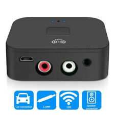 Bluetooth 5.0 Receiver NFC Wireless 3.5mm Jack AUX to 2 RCA Audio Stereo Adapter