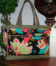Fossil Passport Floral Print Shoulder Tote Bag Handbag Purse Shopper Bag new