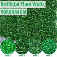 40cm*60cm Artificial Plant Mat Wall Grass Panel Fake Greenery Decor Home Office