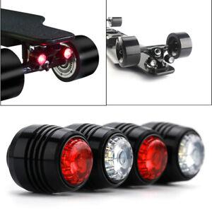 4pcs Skateboard LED Light Night Warning Lights for 4 Wheels Skateboard Longboard