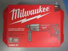 """Milwaukee 5262-21 1"""" SDS Plus Rotary Hammer Kit BRAND NEW"""