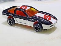 Majorette #215 Chevrolet Corvette ZR1 Black & White #3 1/57 Scale Diecast 268