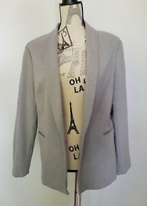 Light Grey Womens Smart Casual Blazer Jacket Size 18