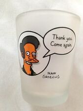"""Humor 2 1/4"""" Shot Glass with Sign: """"THANK YOU, COME AGAIN"""" Marked Matt Groening"""