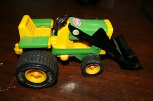 TONKA LAWN TRACTOR WITH FRONT END LOADER, 6.5 INCHES, STEEL AND PLASTIC, NICE!