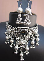 Vintage Statement Charm Necklace Choker Gothic Gypsy Hippie Boho Fashion Jewelry
