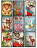 Cute Rudolph Christmas Glossy Finish Card Making Topper - Crafts