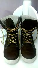 Size 4 TIMBERLAND EARTHKEEPERS Hi Top Boots Dark Brown Fleeced