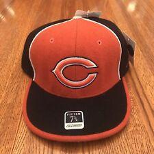 Vintage Reebok NFL Fitted Chicago Bears Pinwheel Style Orange/Blue Hat 7 3/4 NWT